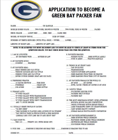 Packer Fan Application Form
