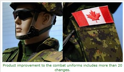 Canadian Army uniform improvements