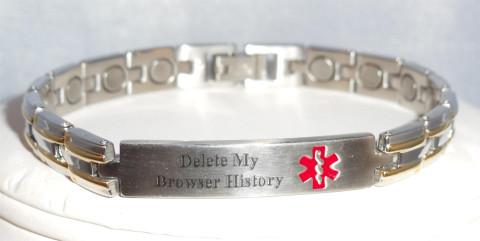 Internet-age Medic Alert Bracelet