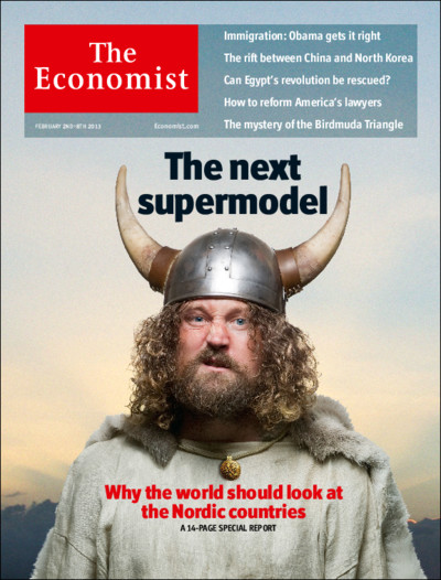 Economist cover with Viking horns
