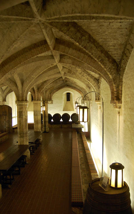 IMAGE: Henry VIII's wine cellar, photograph by Nicola Twilley. The cellar is apparently occasionally used to host Ministry of Defence dinners and receptions, but is otherwise off-limits to the public other than by special request.