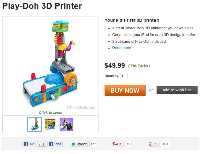 3D Printing with Play-Doh