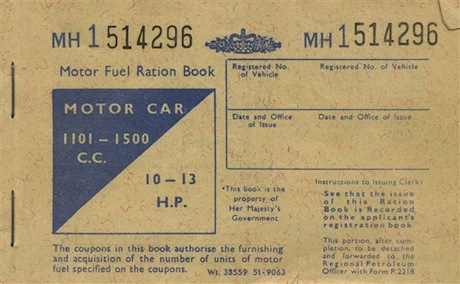 British WW2 Fuel ration book cover