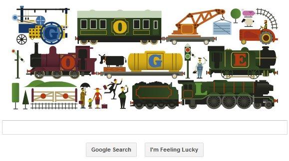 Google UK doodle for Frank Hornby