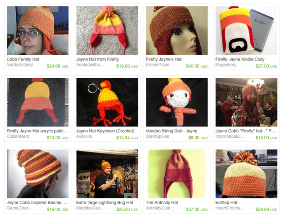 The Etsy market is full of unofficial, handmade hats.