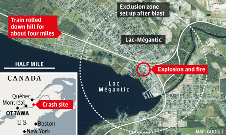 Lac-Mégantic train derailment update