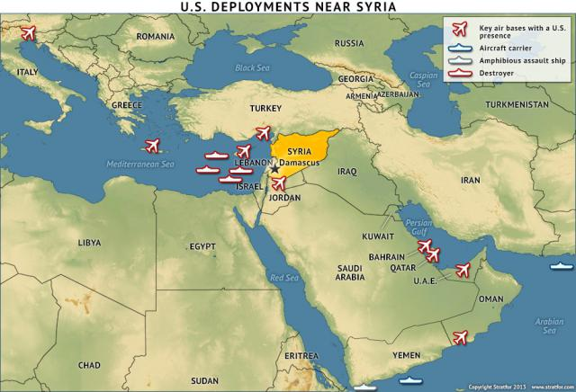 US deployments near Syria 20130828
