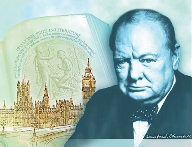 Winston Churchill concept art for 5 pound note