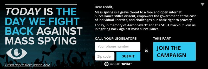 Anti-surveillance banner preview