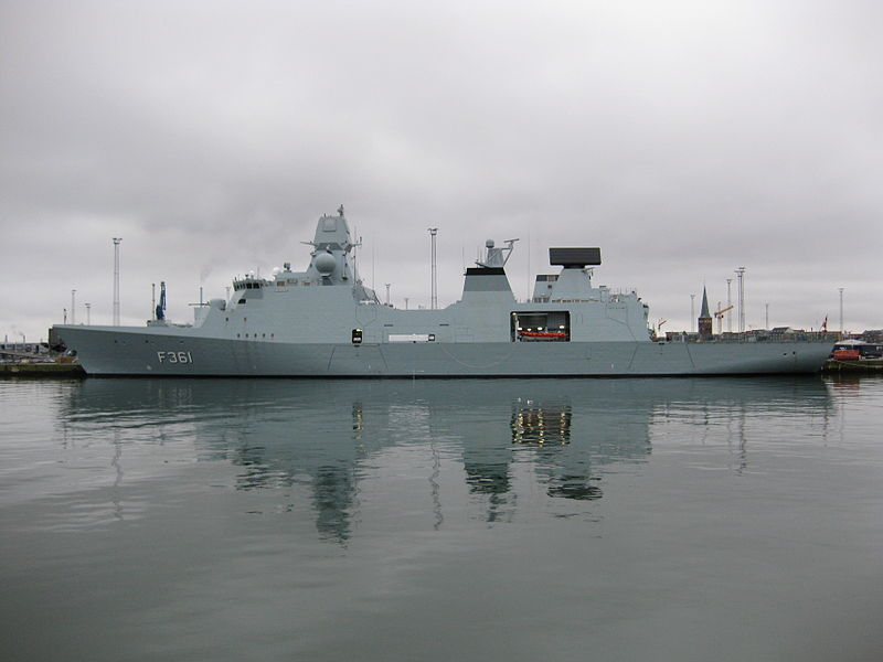 HDMS Iver Huitfeldt during a port visit in Århus, 20 January 2012