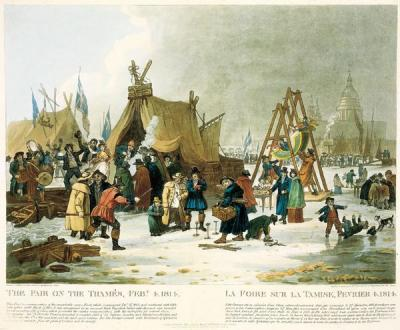 Painting by Luke Clenell, entitled The Fair on the Thames, Feb'y 4th 1814