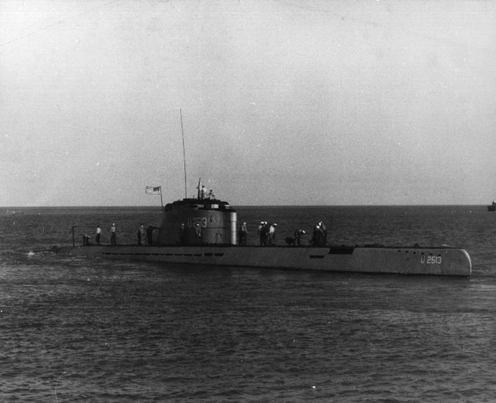 U-2513 off Key West, Florida - 30 October 1946