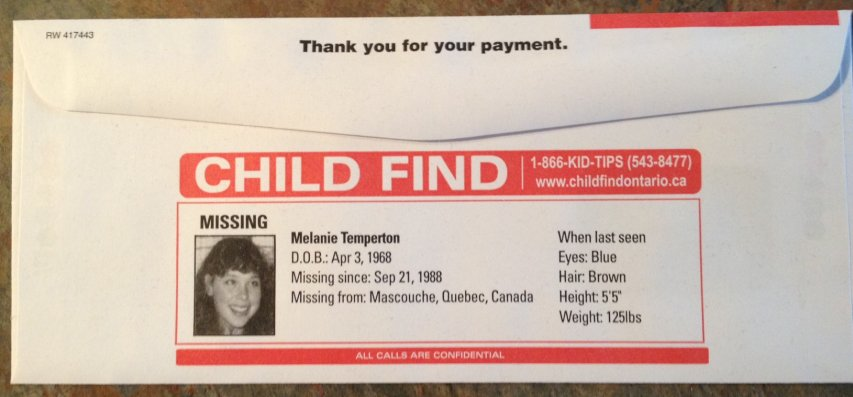 Child Find envelope