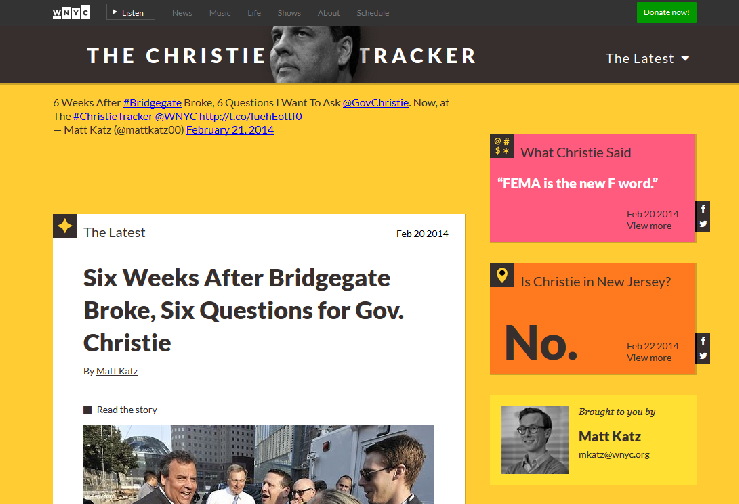 Christie Tracker website