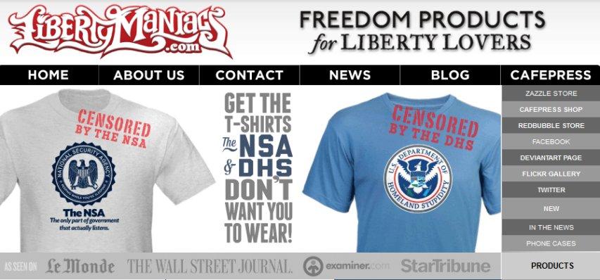 LibertyManiacs front page