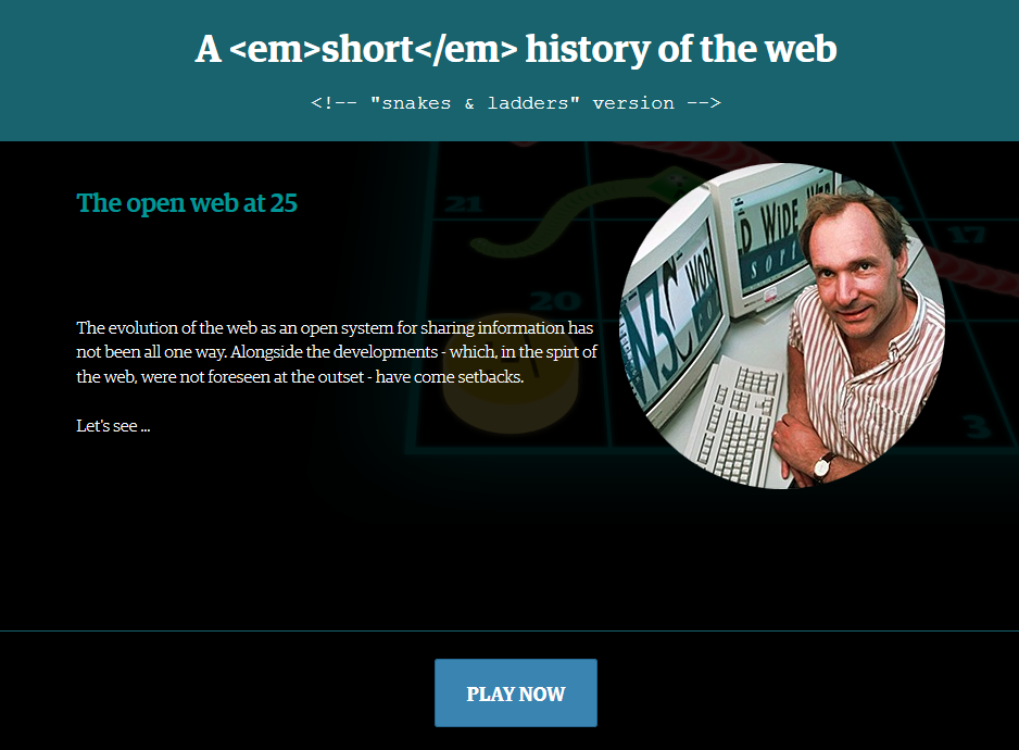 A short history of the web