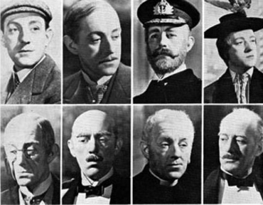 Eight Alec Guinness roles, from one film, Kind Hearts And Coronets (1949)