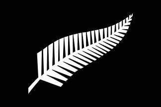 New Zealand All Black Silver Fern flag 324px