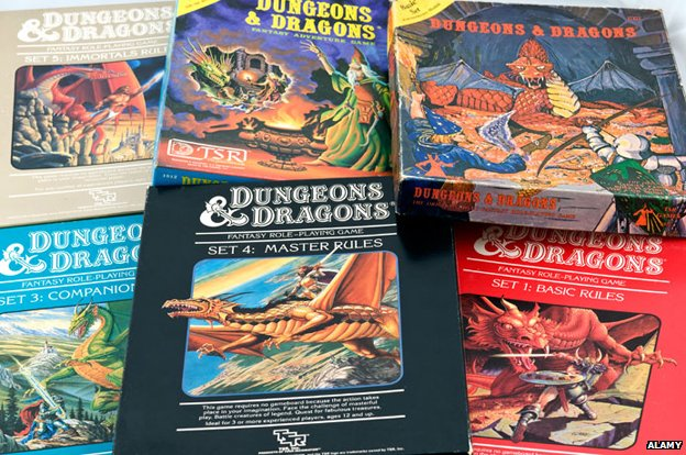 Dungeons and Dragons rulebooks