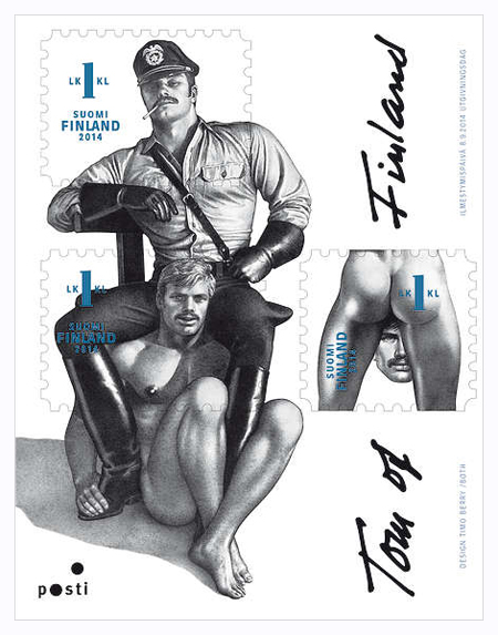 Finland issues Tom of Finland stamps