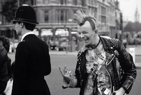 Nigel Farage as a punk