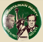 Clark-Koch LP 1980 election button