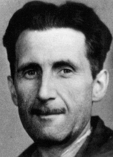 Orwell's press card portrait, 1943