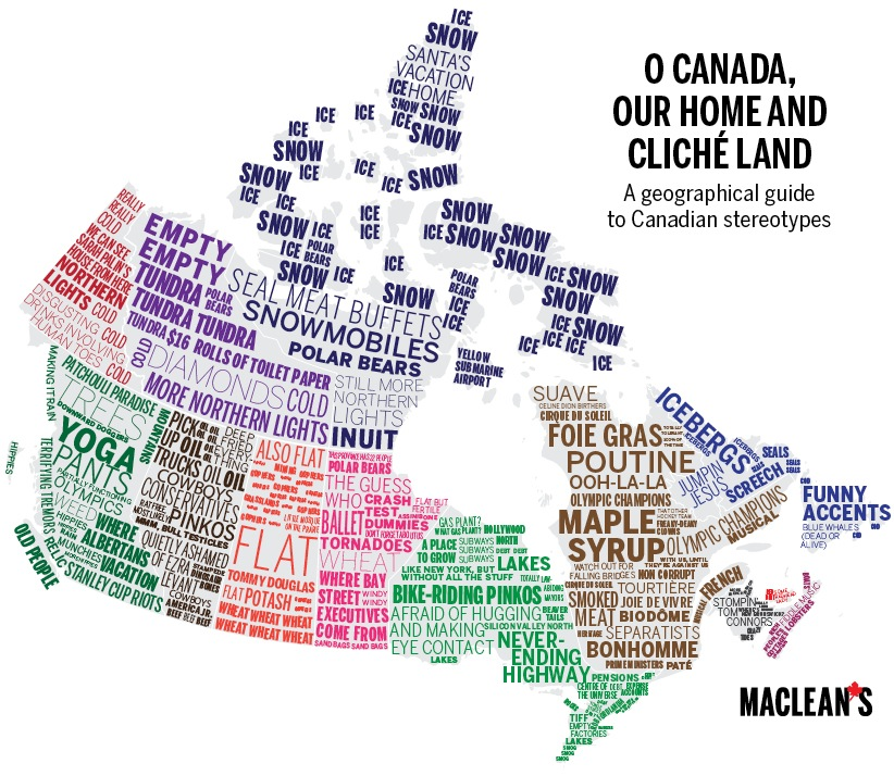 Canadian provinces by clichés