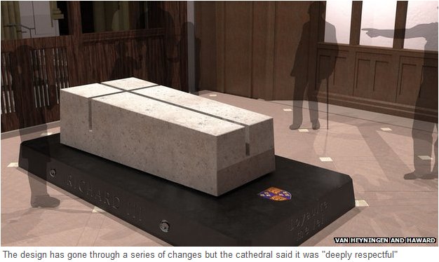 Design of Leicester tomb for Richard III