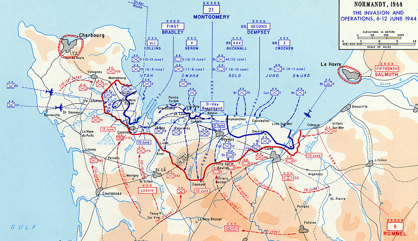 Operation Overlord (detail) Click to see full-sized image at wwii-info.net