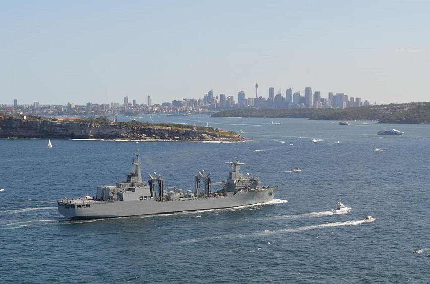 SPS Cantabria entering Sydney harbour in October 2013