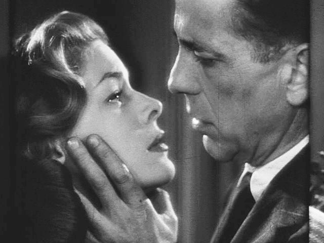 Lauren Bacall and Humphrey Bogart in the trailer for the film Dark Passage, 1947 (via Wikipedia)