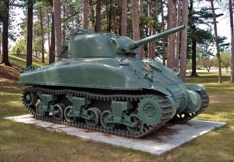 M4A1 Sherman tank at Canadian Forces Base Borden (via Wikipedia)