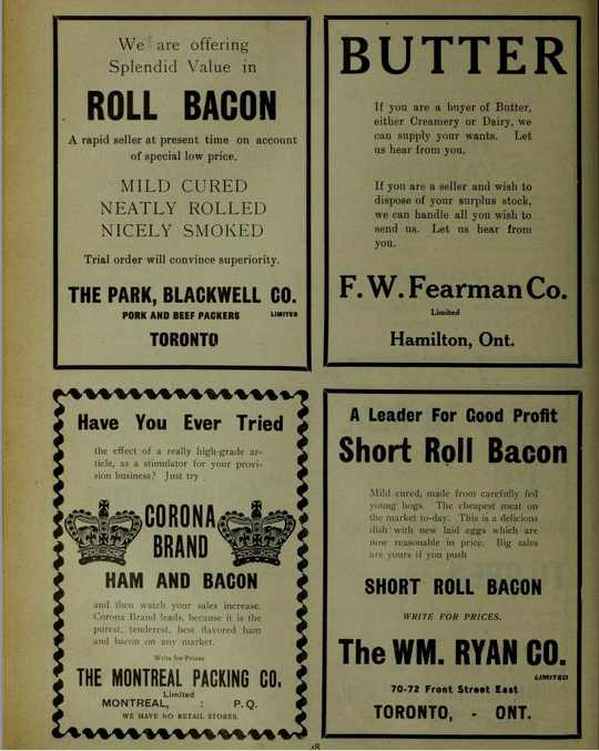 Full page from Canadian Grocer 1908