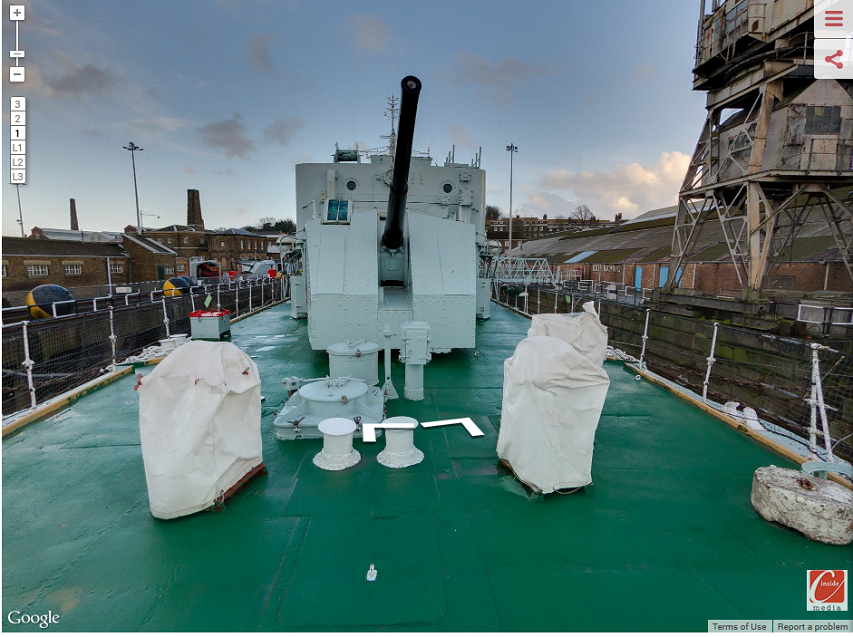 HMS Cavalier virtual tour (via Google Maps)