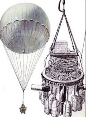 Japanese balloon bomb illustration