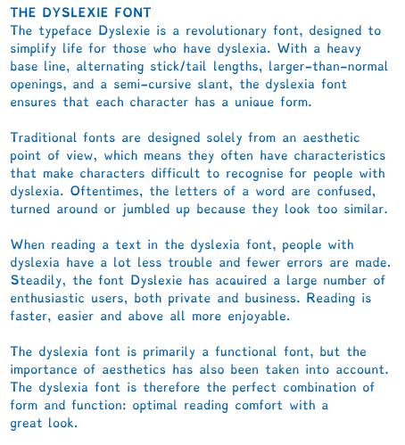 Dyslexie font