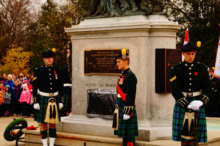 Lorne Scots at Georgetown Cenotaph