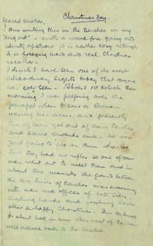 Christmas Truce Letter 1 Credit Royal Mail & Simon Chater