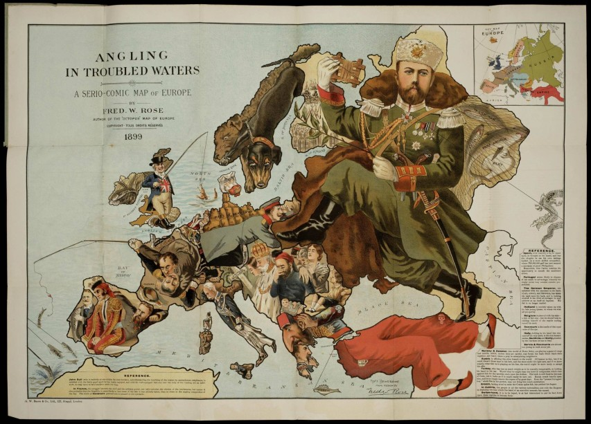 Fred W Rose - Map of Europe in 1899