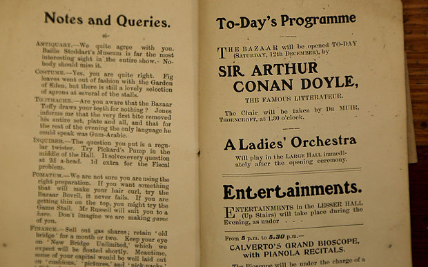 A book, containing a short Sherlock Holmes story by Sir Arthur Conan Doyle is on display at the Selkirk Pop Up Community Museum after Walter Elliot, 80, found it in his attic and donated it.