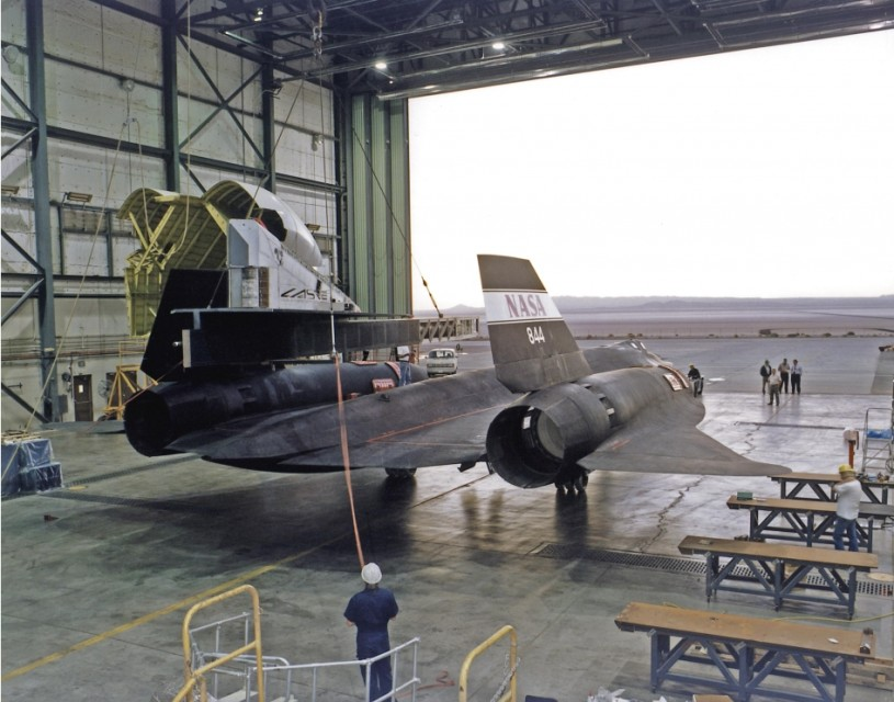 The Blackbirds kept flying long after their retirement from the USAF. One of them stayed at NASA: Here's a photo from the Armstrong Flight Research Center (then Dryden) of an SR-71 being retrofitted for test of the Linear Aerospike SR Experiment (LASRE).
