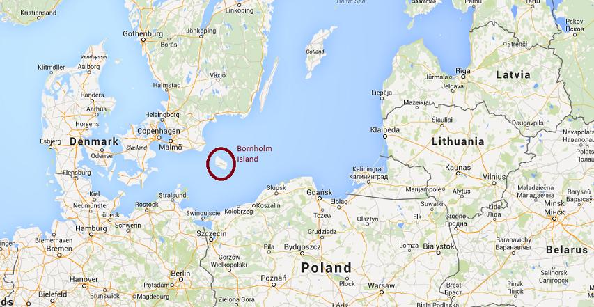 Bornholm Island (via Google Maps)