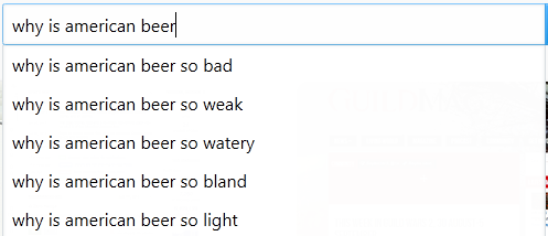 Why is american beer