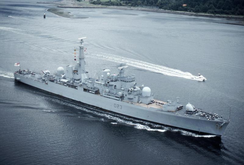 HMS Bristol, the closest the RN came to a new cruiser during the Cold War