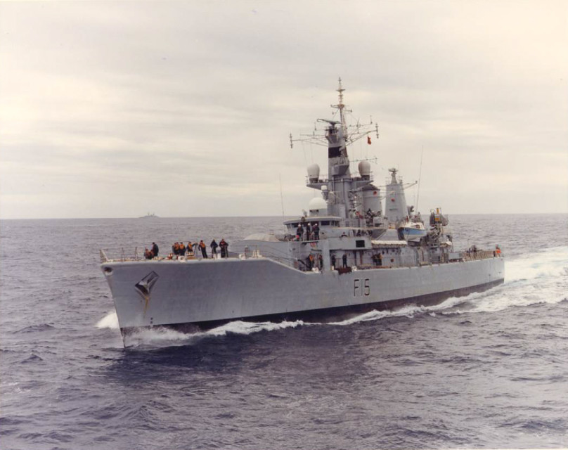 HMS Euryalus, one of 26 Leander Class frigates built for the RN