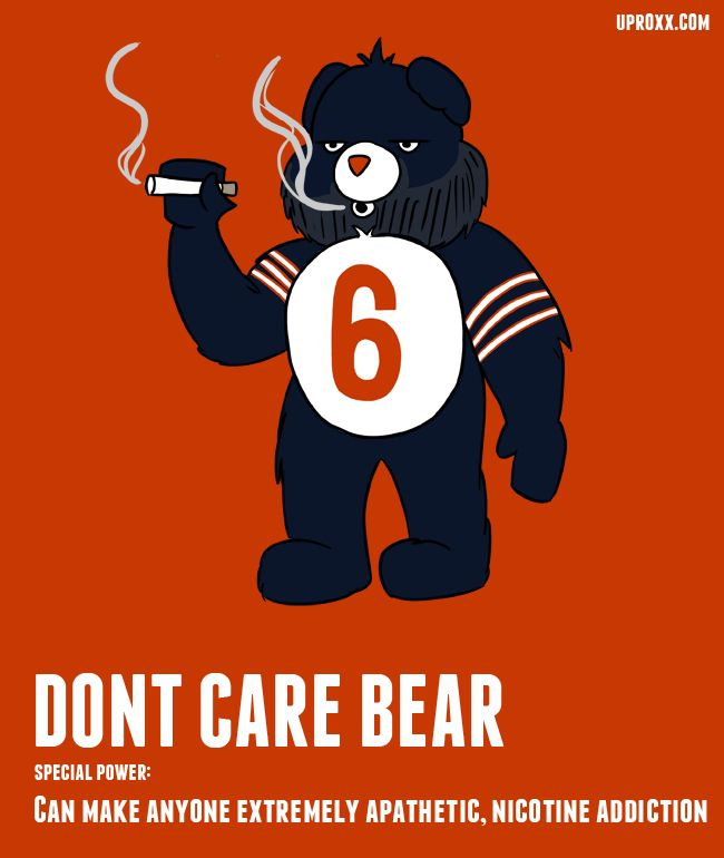 Jay Cutler as Dont Care Bear