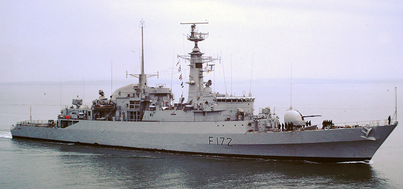 Sleek, fast and loved by their crews, the Type 21 was the poster child for the cheap frigate. There is a very fine line between a successful 'less capable, cheaper frigate' and a compromised warship design that becomes a liability. The Type 21 Frigate design of the 1970s was designed by a private company and accepted by the RN as a way to get a modern and affordable frigate to sea. Unfortunately when tested in the heat of the Falklands war their deficiencies became obvious. A top-heavy design on a lightweight hull, they suffered structural problems in the prolonged South Atlantic operations. They were also inadequately armed and suffered accordingly. God help them if they had gone up against Soviet aircraft or missiles. Ironically the surviving Type 21s still soldier on today in the Pakistani navy. Upgraded with a Phalanx system and Chinese SAMs / Harpoon missiles they are now slightly more potent.