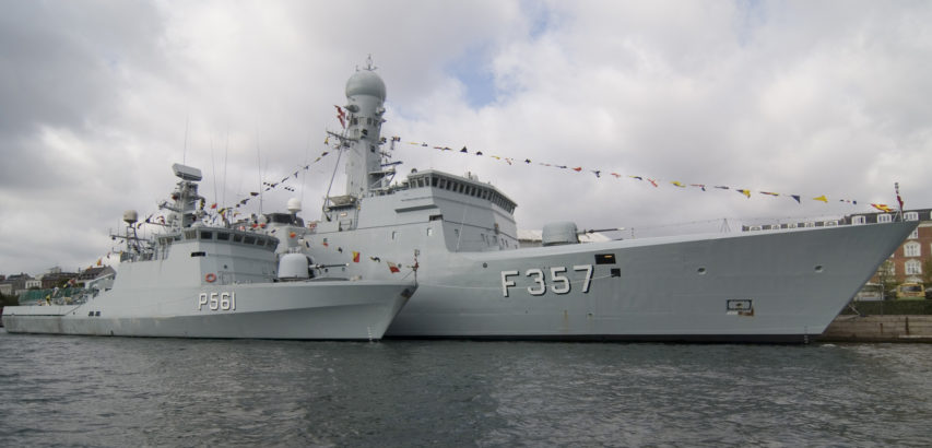 HDMS Skaden (hull number P561) and HDMS Thetis (F357) in Copenhagen