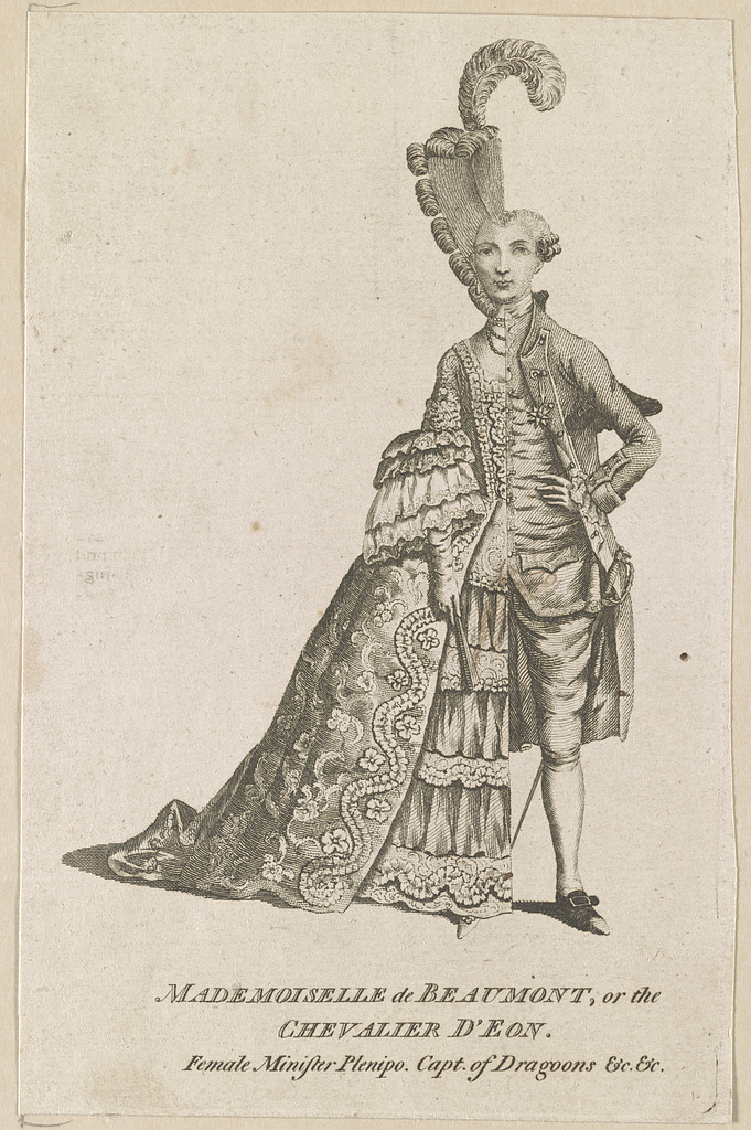 Mademoiselle de Beaumont or The Chevalier D'Eon. (Photo: Library of Congress/LC-DIG-ds-03347)